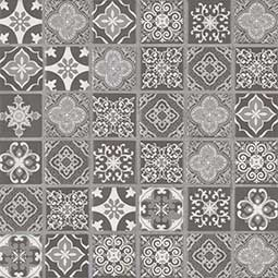 Anya Charcoal Backsplash Tile encaustic tile pattern