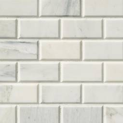 Arabescato Carrara Subway Tile 2x4 - White Tile