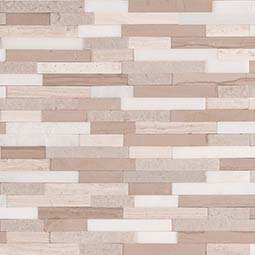 Arctic Storm Interlocking 3D Peel and Stick Backsplash