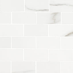 Aria Bianco 2X4 Mosaic Polished - White Tile