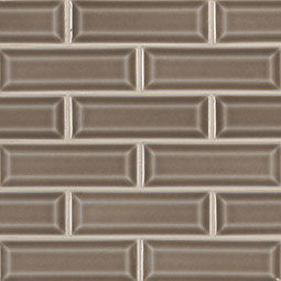 Artisan Taupe 2x6 Beveled Subway Tile