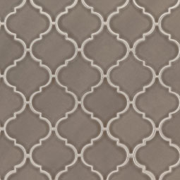 Artisan Taupe Arabesque Backsplash Tile