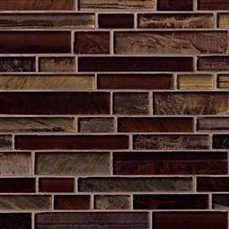 Artista Interlocking Pattern 8mm Glass Backsplash Tile