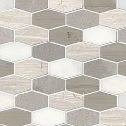 Bellagio Blend Elongated Hexagon Honed Product Page