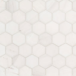 "Bianco Dolomite 2"" Hexagon Polished"