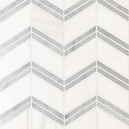 Bianco Dolomite Chevron Polished