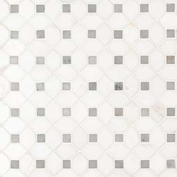 Bianco Dolomite Dotty Polished Backsplash Tile