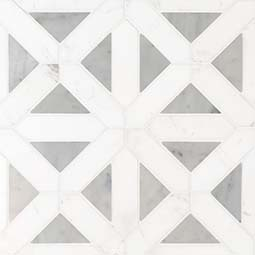Bianco Dolomite Geometrica Polished geometric tile pattern Product Page