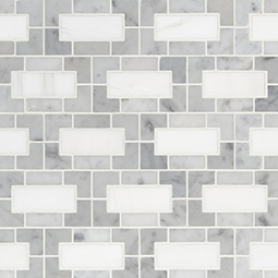 Bianco Dolomite Lynx Polished geometric tile pattern Product Page