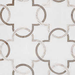 Bianco Quatrefoil Polished 10mm