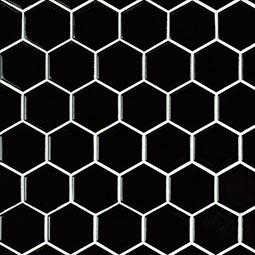 "Black 2"" Hexagon Glossy Product Page"