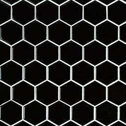 "Black 2"" Hexagon Glossy"