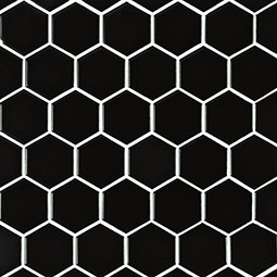 "Black 2"" Hexagon Matte Product Page"