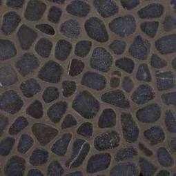 Black Marble Pebbles Tumbled Pattern 10mm