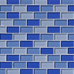 BLUE BLEND BRICK GLASS 1X2X8MM