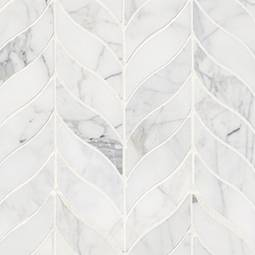 Calacatta Cressa Leaf Pattern Honed Backsplash Tile