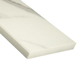 Calacatta Nowy 6x73x0.75 Polished Single Beveled Threshold Product Page