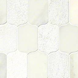 Calypso Blanco Lotus Pattern Multi Finish Backsplash Tile