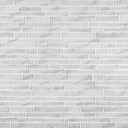 Calypso interlocking Pattern 8mm Glass Backsplash Tile