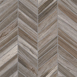 Carolina Timber Gray Chevron Mosaic 12X15