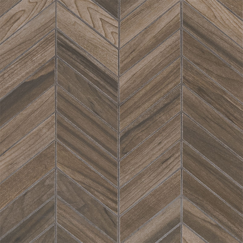 Carolina Timber Saddle Chevron Mosaic 12X15