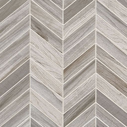 Carolina Timber White Chevron Mosaic 12X15
