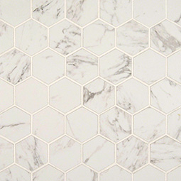 CARRARA MATTE 2X2 HEXAGON MOSAIC