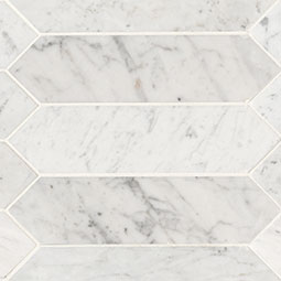 Carrara White 3x12 Picket Honed