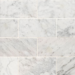 Carrara White 3x6 Honed