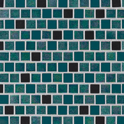 Carribean Mermaid 1x1x4mm Staggered  Glass Mosaic Tile