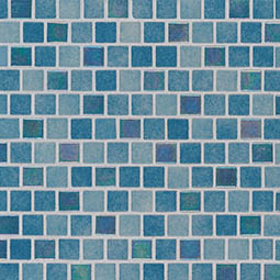 Carribean Reef 1x1x4mm Staggered  Glass Mosaic Tile