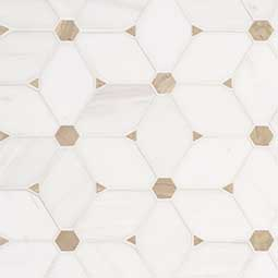 Cecily Pattern Polished Backsplash Tile