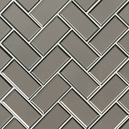 Champagne Bevel Herringbone Backsplash Tile
