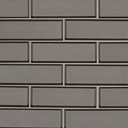 Champagne Bevel Subway 2x6x8mm Glass Backsplash Tile