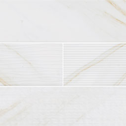 Classique White Calacatta Subway Tile Glossy 4X16 Mix  Product Page