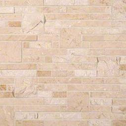 Crema Opus Polished and Splitface Pattern Backsplash Tile