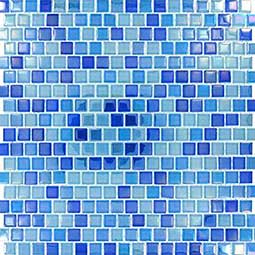 Dark Blue Blend  Glass Backsplash Tile