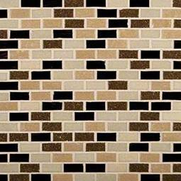 Desert Spring Mini Brick 6mm Glass Backsplash Tile