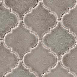 Dove Gray Arabesque Backsplash Tile
