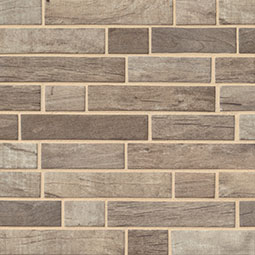 Driftwood Interlocking 6mm Glass Mosaic Tile wood look wall tile
