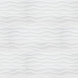 Dymo Wavy White 12X24 Glossy  3D Wall Tile