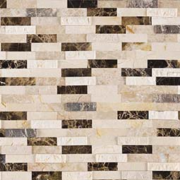 Emperador Blend Splitface Peel and Stick Backsplash Backsplash