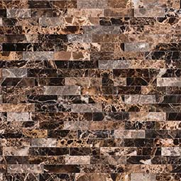 Emperador Splitface Peel and Stick Backsplash
