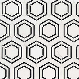 Georama Nero Polished  geometric tile pattern Product Page