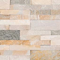 Golden Honey Peel and Stick Stacked Stone Backsplash