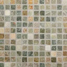 Golden White Quartzite 1x1 Tumbled in 12x12 Mesh