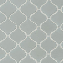 Gray Glossy Arabesque Mosaic Product Page