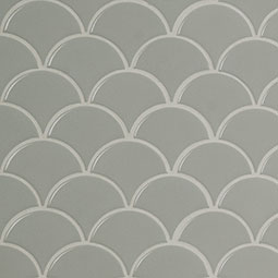 Gray Glossy Fish Scale Mosaic