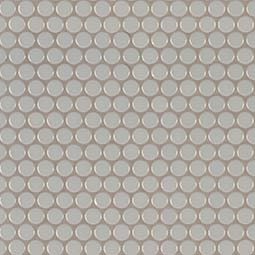 Gray Glossy Penny Round Mosaic Product Page