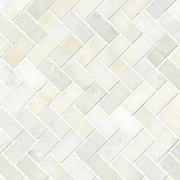 Greecian White Herringbone Pattern